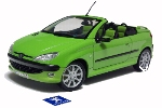 PEUGEOT 206CC WELLY 1:18 scale