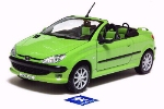 PEUGEOT 206CC WELLY 1:24 scale